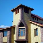 фасад грузинский кирпич