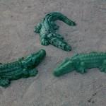 крокодилы бетонные